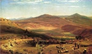 Thomas Worthington Whittredge - The Amphitheatre of Tusculum and Albano Mountains, Rome