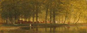 Thomas Worthington Whittredge - The Camp Meeting