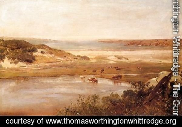 Thomas Worthington Whittredge - Landscape with River