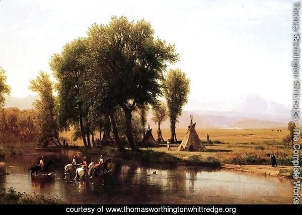 Indian Encampment on the Platte River