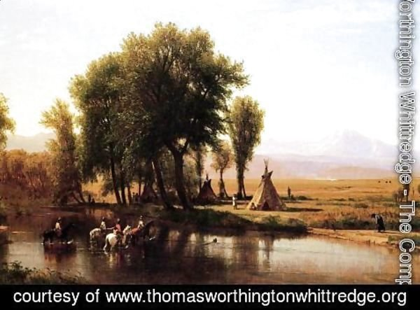 Thomas Worthington Whittredge - Indian Encampment on the Platte River