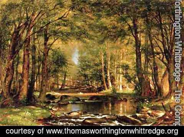 Thomas Worthington Whittredge - A Catskill Brook