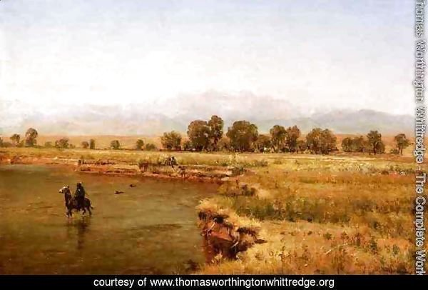 Indian Encampment on the Platte River, Colorado