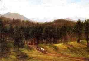 Thomas Worthington Whittredge - A Mountain Trail, Colorado