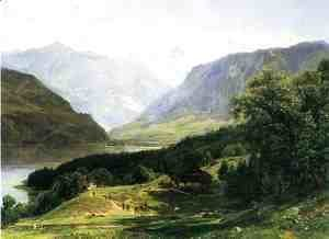 Thomas Worthington Whittredge - Travelers in the Swiss Alps