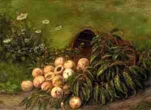 Thomas Worthington Whittredge - Still Life with Peaches