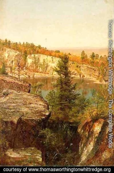 Thomas Worthington Whittredge - Rock Ledge and Pond