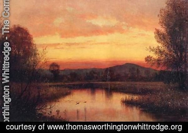 Thomas Worthington Whittredge - Twilight on the Marsh