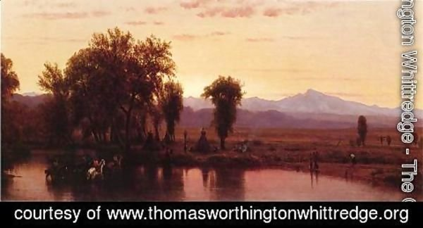 Thomas Worthington Whittredge - Indians Crossing the Platte River