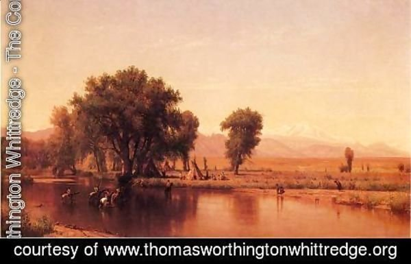 Thomas Worthington Whittredge - Crossing the Ford