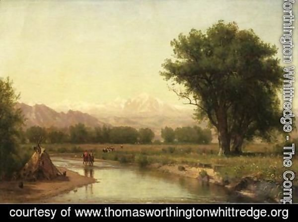 Thomas Worthington Whittredge - Indian Encampment on the Platte (III)