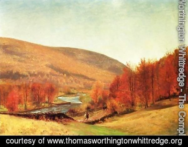 Thomas Worthington Whittredge - Autumn Landscape, Vermont
