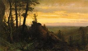 Thomas Worthington Whittredge - Twilight in the Shawangunk Mountains