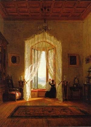 Thomas Worthington Whittredge - A Window, House on the Hudson River