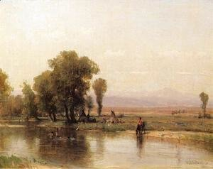 Thomas Worthington Whittredge - Encampment on The Platte River