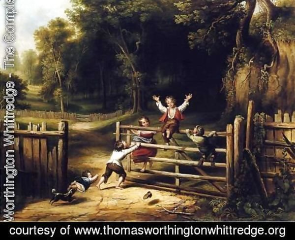 Thomas Worthington Whittredge - Happy as a King