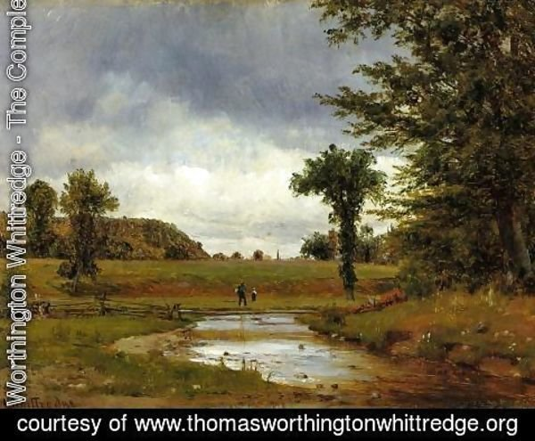 Thomas Worthington Whittredge - Going to the Village