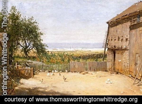 Thomas Worthington Whittredge - The Sea from the Dove Cote, Newport, Rhode Island