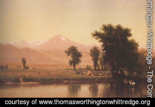 Thomas Worthington Whittredge - Crossing The River Platte 1871