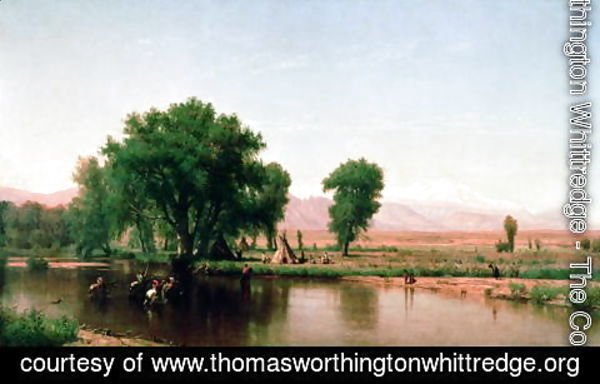 Thomas Worthington Whittredge - Crossing the Ford Platte River Colorado