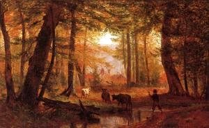 Thomas Worthington Whittredge - Crossing the Stream 1867