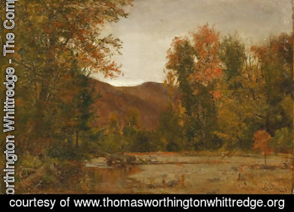 Thomas Worthington Whittredge - Deer in a Landscape