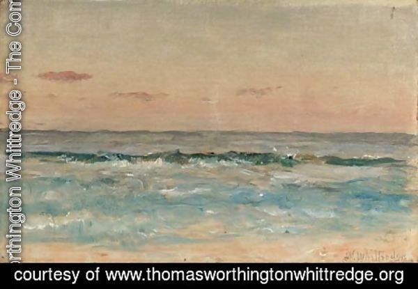 Thomas Worthington Whittredge - Waves Rolling in on a Sandy Beach