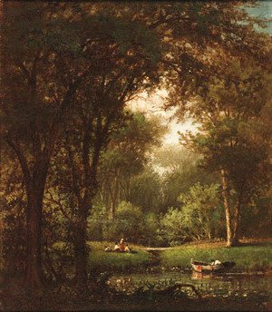 Thomas Worthington Whittredge - Picnic Under the Trees
