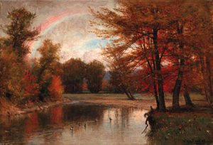 Thomas Worthington Whittredge - The Rainbow, Autumn, Catskills