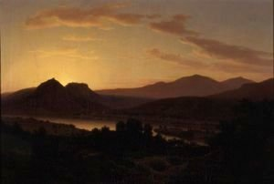 Thomas Worthington Whittredge - Sunrise, View Of Drachenfels From Rolandseck